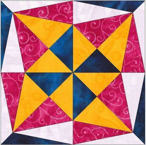 Download Star's Secret 15 Inch Template Quilting Block immediately at Makerist