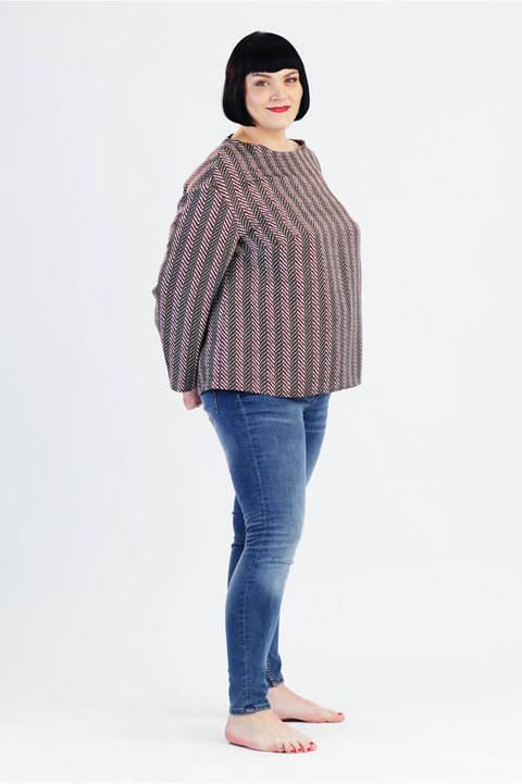 Schnittmuster und Nähanleitung Tunika Claire Plus Size bei Makerist sofort runterladen