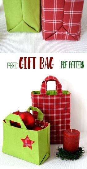 Download Fabric Gift Bag - 6 Sizes + Instructions immediately at Makerist