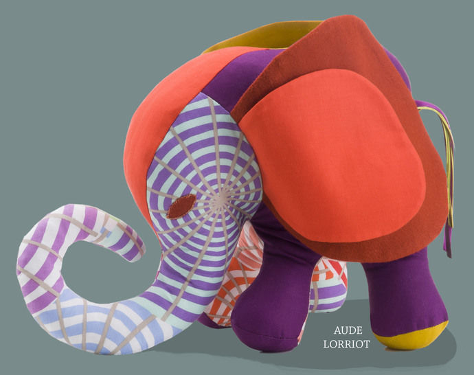 Download sewing PATTERN TUTORIAL ELEPHANT TEDDY 3D immediately at Makerist