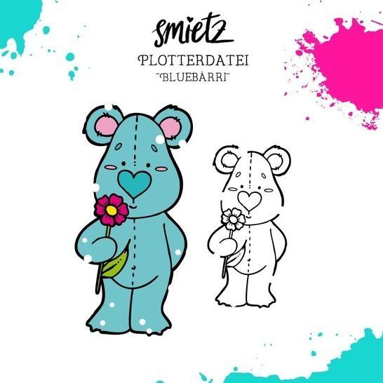 "Plotterdatei ""Bluebärri"" inklusive Minilizenz bei Makerist sofort runterladen"