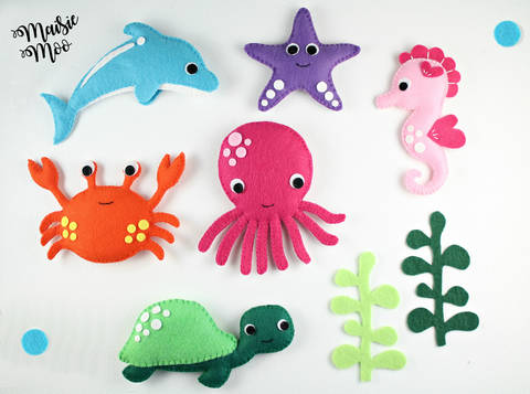 Download Felt Sea Creatures Pattern Under The Sea Baby Mobile Pattern  immediately at Makerist