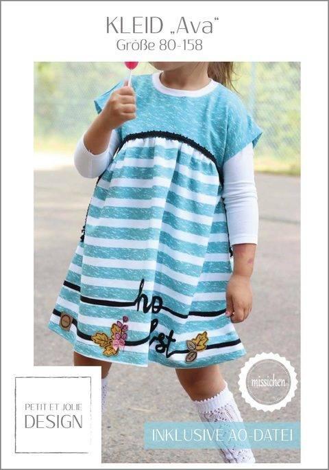 "Kleid ""AVA"" inkl. A0-Datei Kleid - Gr. 80 - 158 bei Makerist sofort runterladen"