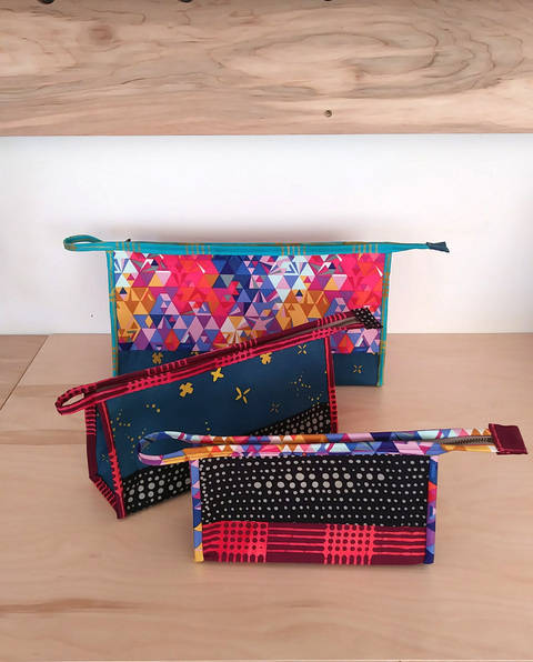Download Kinley Pouch - cosmetics case pattern in 3 sizes immediately at Makerist