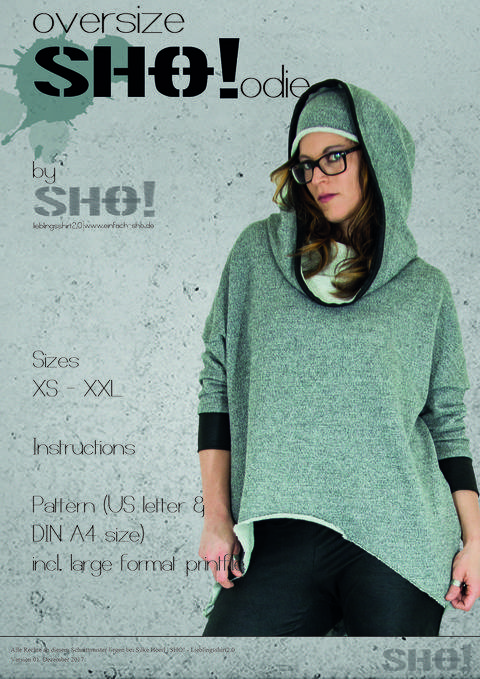 Download oversizeSHO!odie - an ovesized cut hoodie immediately at Makerist
