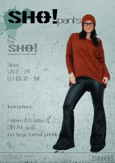 Download SHO!pants - a flared leg pants immediately at Makerist