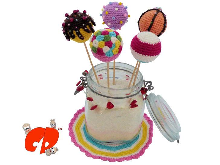 Häkelanleitung (066): Bunte Cake Pops - Häkelanleitungen bei Makerist sofort runterladen