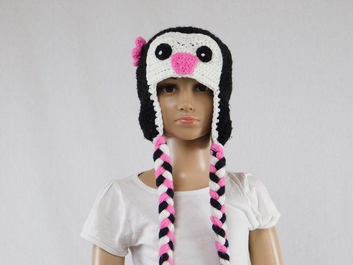 Häkelanleitung Kinder Pinguin Mütze