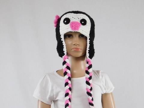 Häkelanleitung Kinder-Pinguin Mütze bei Makerist sofort runterladen