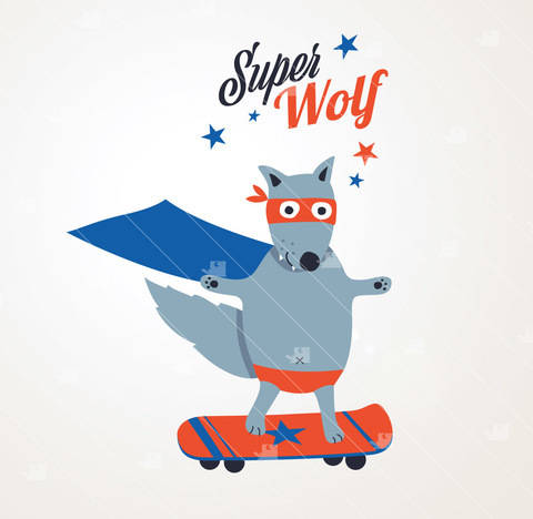 Download Super-Wolf - Cutting file immediately at Makerist