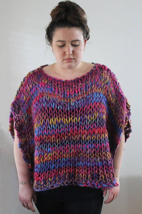 Download Knitted Rainbow Top - Knitting Pattern immediately at Makerist
