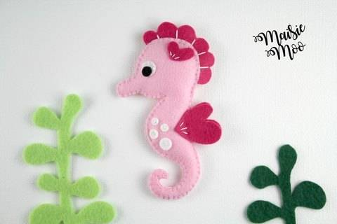 Download Seahorse Pattern, Felt Seahorse Sewing Pattern immediately at Makerist