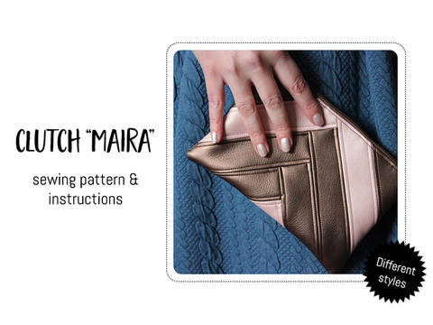 "Download Clutch ""Maira"" Sewing Pattern immediately at Makerist"