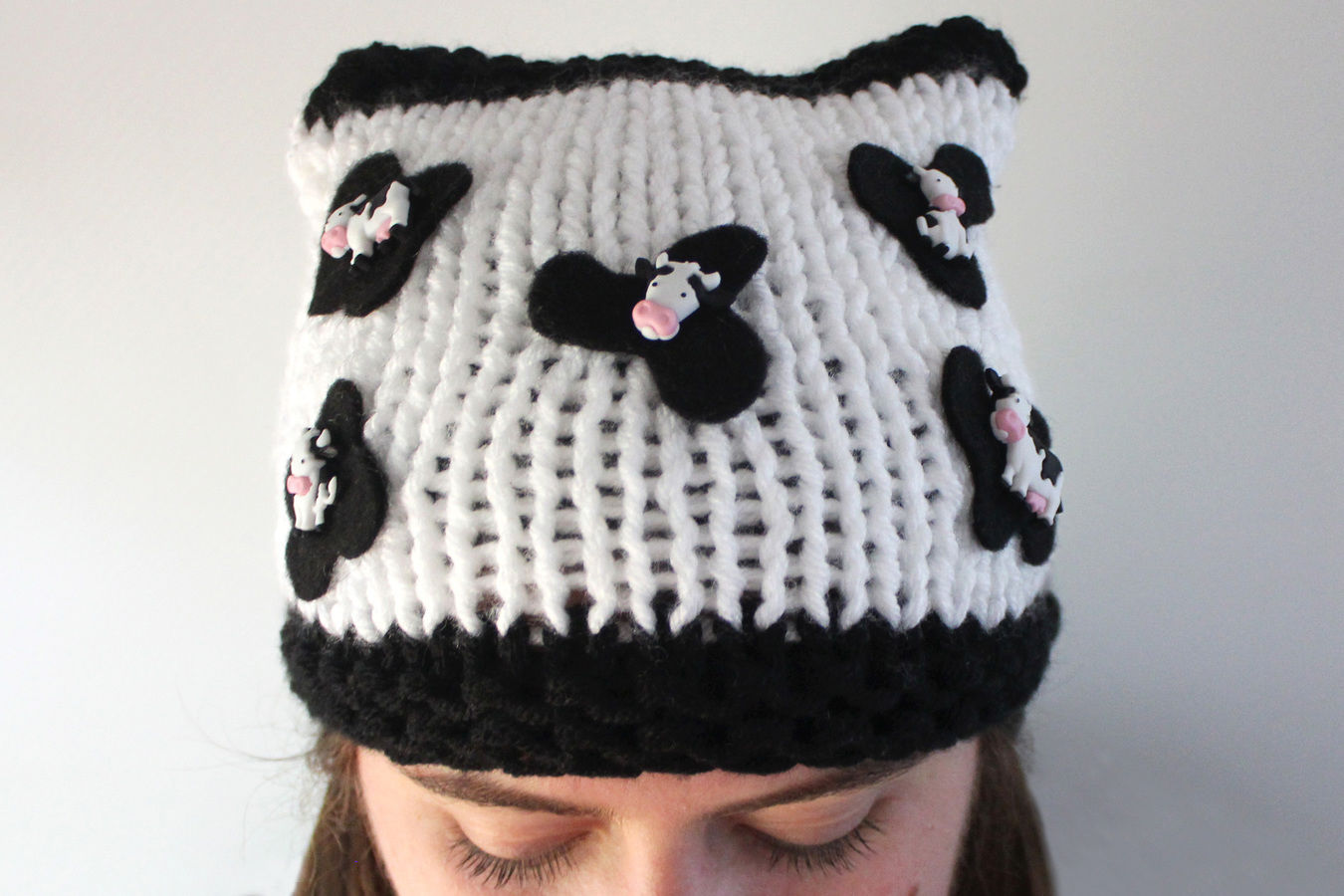 Knitted Cow Beanie - Knitting Pattern