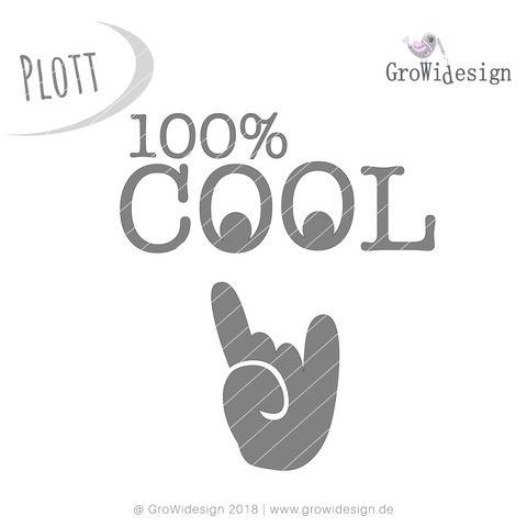 Statement 100% Cool Plotterdatei bei Makerist sofort runterladen