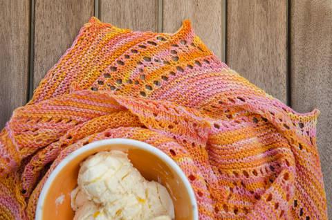 Strickanleitung - Orange Sorbet Tuch bei Makerist sofort runterladen