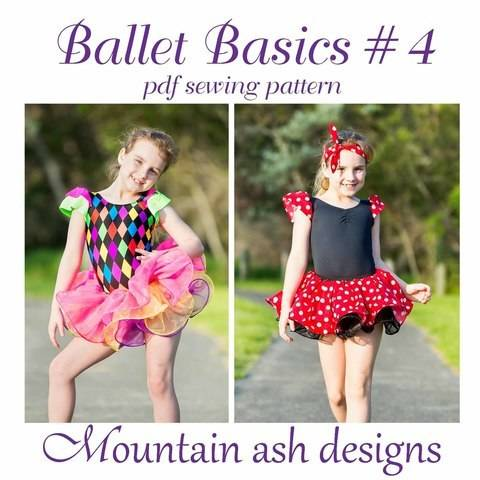 Download Ballet Basics #4 Leotard & Skirt Size 1-14 immediately at Makerist