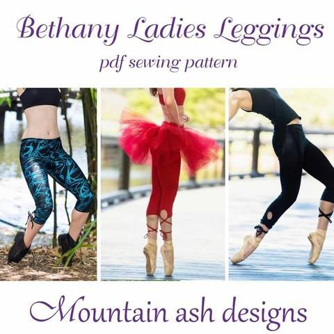 Download Bethany Ladies Strappy Keyhole Tutu Leggings immediately at Makerist
