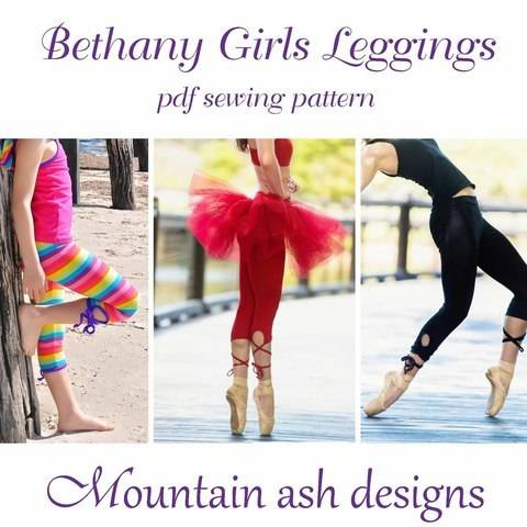 Download Bethany Girls Tutu Strappy Keyhole Leggings Sewing Pattern immediately at Makerist