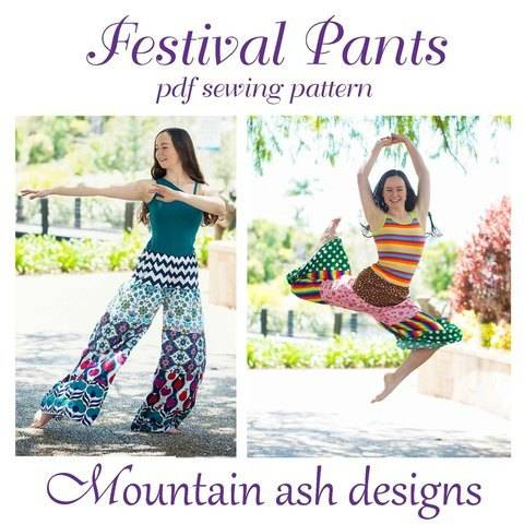 Download Festival Pants Womens Patchwork Hippie Pants immediately at Makerist