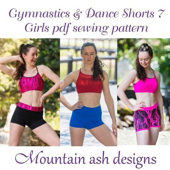 Download Gymnastics & Dance Shorts 7 High Waisted Yoga Shorts in Girls Sizes immediately at Makerist