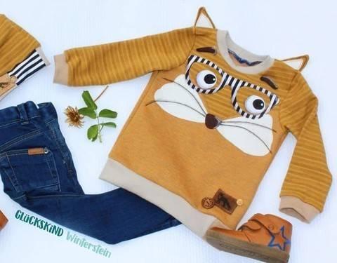 Shirt #emimal Nähanleitung, Schnittmuster und Applikationsvorlagen Eule Fuchs Pinguin Waschbär Reh Igel Maus  Eichhörnchen bei Makerist sofort runterladen