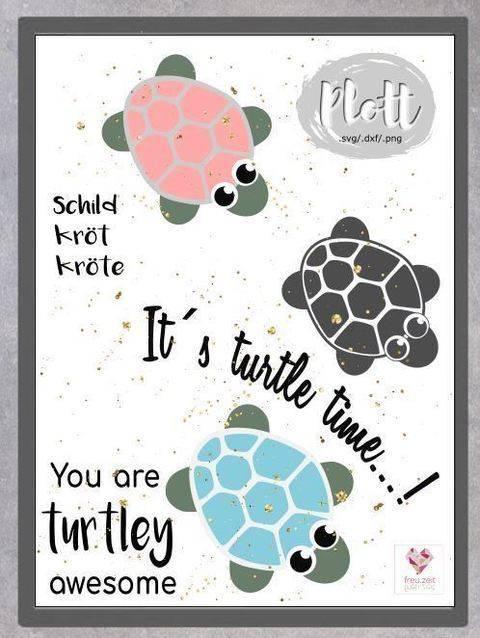 Plottdesign - Schildkröte bei Makerist sofort runterladen