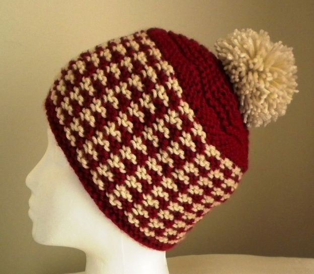bcee7bfb077 Download Danica Houndstooth Hat- Knitting Pattern immediately at Makerist