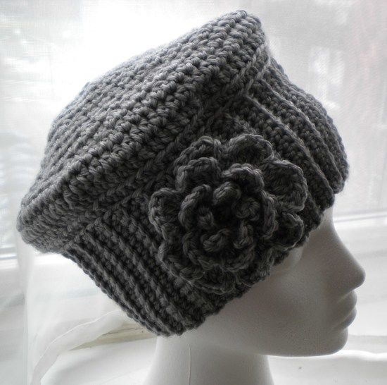 Cloche Hat With Flower Crochet Pattern