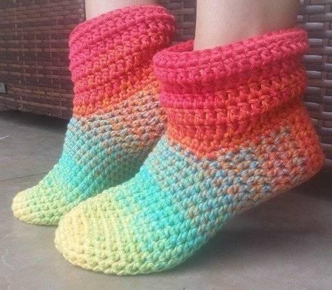 Télécharger Crochet - Chaussons « Grand-mère Mine » tout de suite sur Makerist