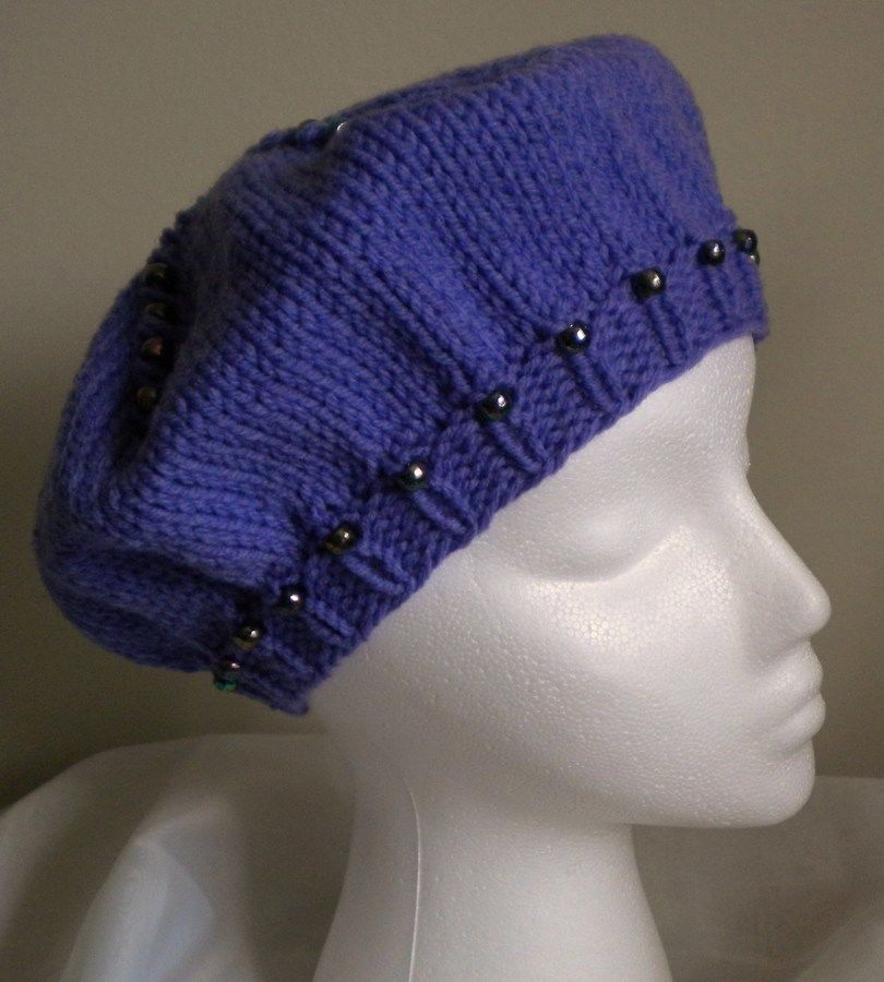 Basic Beaded Beret Knitting Pattern