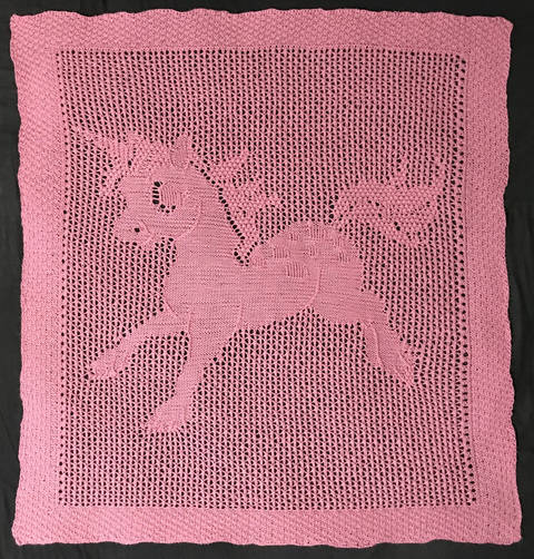 Download Baby Unicorn Blanket immediately at Makerist