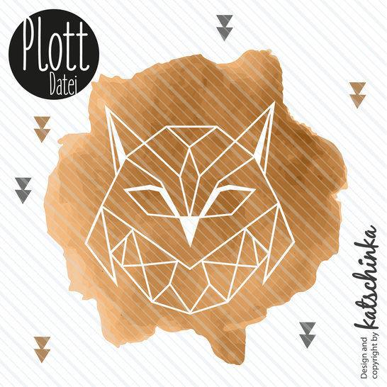 Plottervorlage ORION Eule - Plottdatei geometrisch Vogel // Owl bei Makerist sofort runterladen