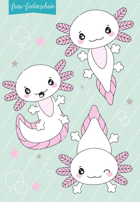 Appliziervorlage Lotti Axolotl bei Makerist sofort runterladen