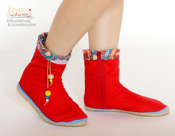 Espadrilles Stiefel  - Nähanleitungen bei Makerist sofort runterladen