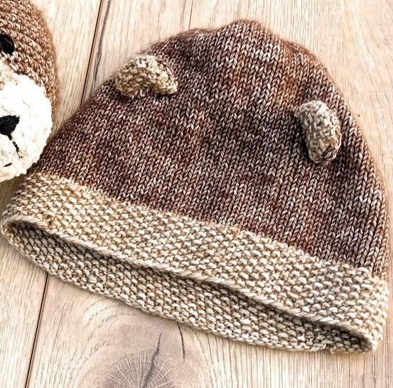 Bär Mütze Für Neugeborene Und Babys Strickanleitung Größe Kopfumfang