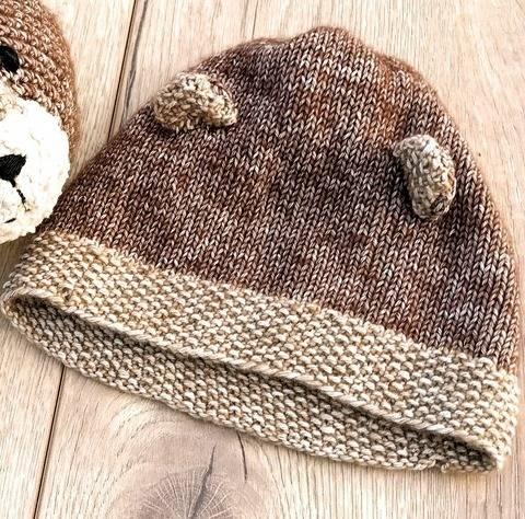 Bär Mütze für Neugeborene und Babys Strickanleitung Größe Kopfumfang ca. 42/43 cm bei Makerist sofort runterladen
