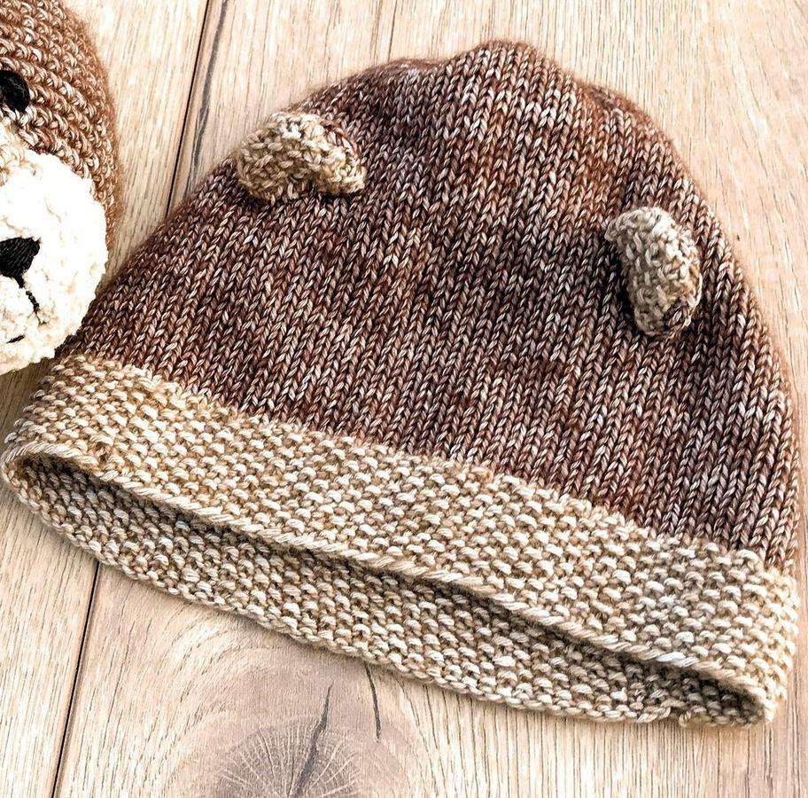 Bär Mütze für Neugeborene und Babys Strickanleitung Größe Kopfumfang ...