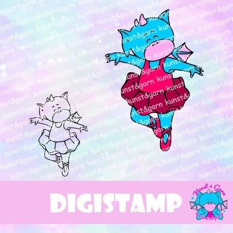 DigiStamp Ballerina-Lilo bei Makerist sofort runterladen