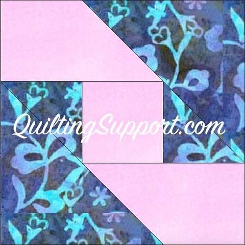 Download Ribbon Piece 10 Inch Block Paper Piece Foundation Quilting Pattern immediately at Makerist
