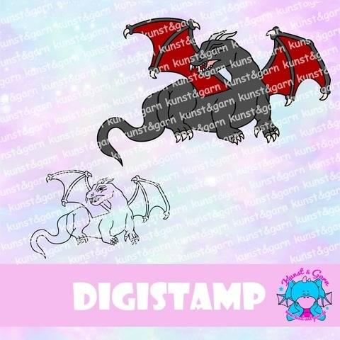 DigiStamp Dragon bei Makerist sofort runterladen