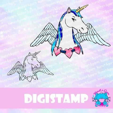 DigiStamp Einhorn-Pegasus Mann bei Makerist sofort runterladen