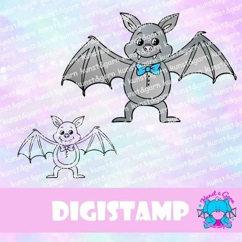 DigiStamp Fledermausmännchen bei Makerist sofort runterladen