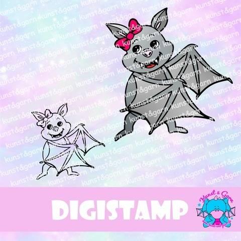 DigiStamp Fledermausweibchen bei Makerist sofort runterladen