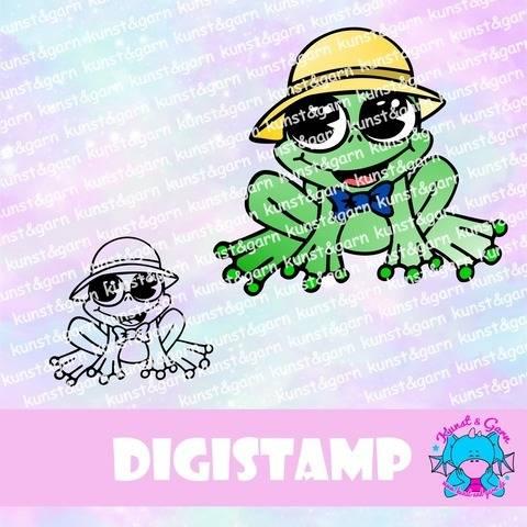 DigiStamp Frosch bei Makerist sofort runterladen