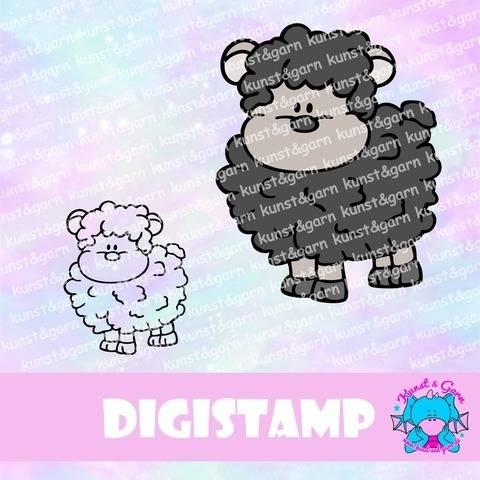 DigiStamp Animalfriends Schäfchen bei Makerist sofort runterladen