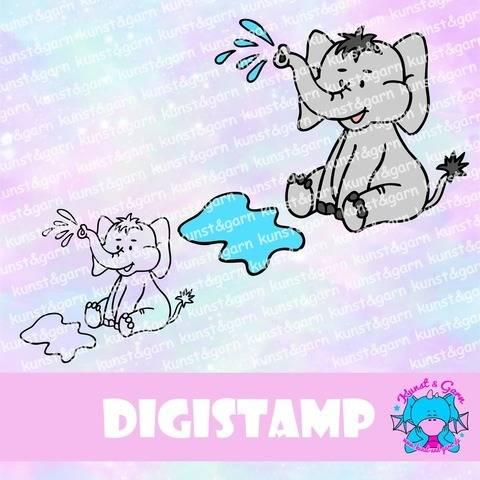 DigiStamp Animalfriends Planschifant bei Makerist sofort runterladen