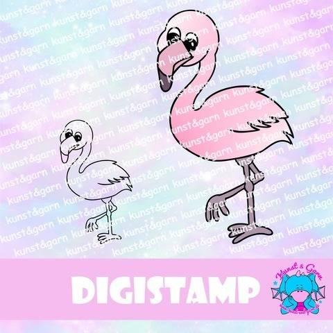 DigiStamp Flamingo Frida bei Makerist sofort runterladen