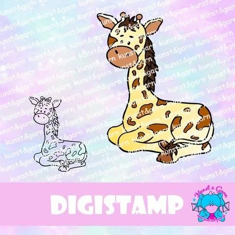 DigiStamp Giraffe Pia bei Makerist sofort runterladen