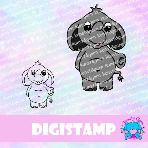 DigiStamp Elefant Lino bei Makerist sofort runterladen